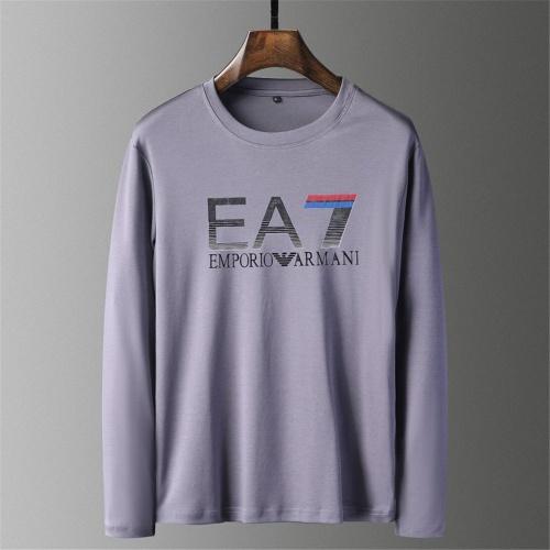 Cheap Armani T-Shirts Long Sleeved O-Neck For Men #797494 Replica Wholesale [$39.77 USD] [W#797494] on Replica Armani T-Shirts