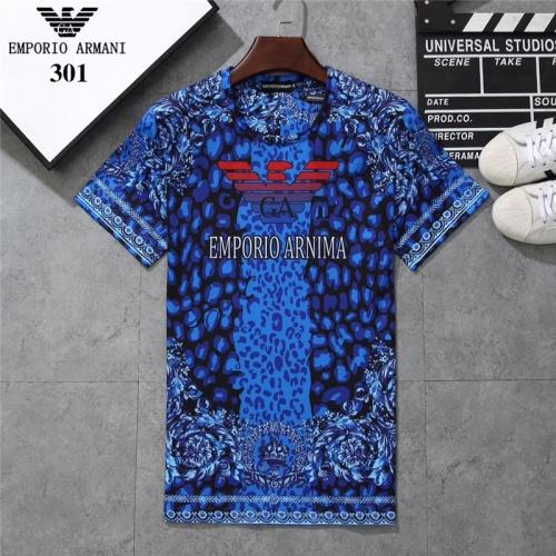 Cheap Armani T-Shirts Short Sleeved O-Neck For Men #801044 Replica Wholesale [$24.25 USD] [W#801044] on Replica Armani T-Shirts