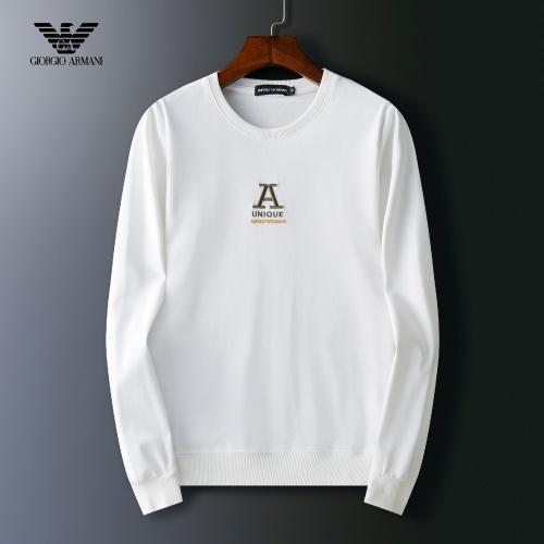 Cheap Armani Hoodies Long Sleeved O-Neck For Men #803922 Replica Wholesale [$38.80 USD] [W#803922] on Replica Armani Hoodies