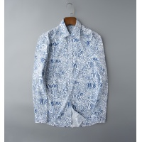 Christian Dior Shirts Long Sleeved Polo For Men #805615