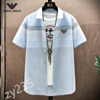 Armani Shirts Short Sleeved For Men #849781