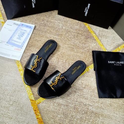 Cheap Yves Saint Laurent YSL Slippers For Women #865659 Replica Wholesale [$50.00 USD] [W#865659] on Replica Yves Saint Laurent YSL Slippers