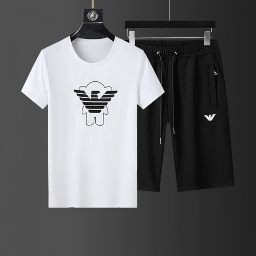 Cheap Armani Tracksuits Short Sleeved For Men #874116 Replica Wholesale [$64.00 USD] [W#874116] on Replica Armani Tracksuits