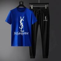 Yves Saint Laurent YSL Tracksuits Short Sleeved For Men #871108