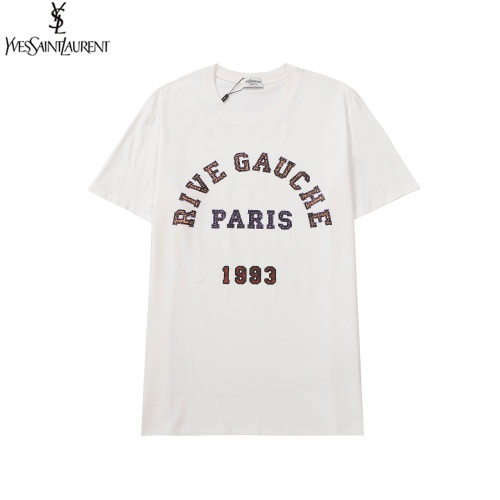 Cheap Yves Saint Laurent YSL T-shirts Short Sleeved For Men #891031 Replica Wholesale [$27.00 USD] [W#891031] on Replica Yves Saint Laurent YSL T-shirts