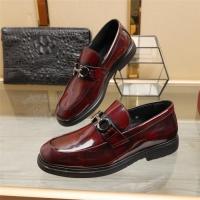 Ferragamo Salvatore FS Leather Shoes For Men #887261