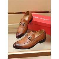 Ferragamo Salvatore FS Leather Shoes For Men #891807